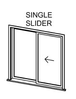 Single Slider Windows