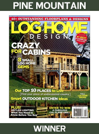 2008 log home design magazine winner pine mountain - Home Design Magazine