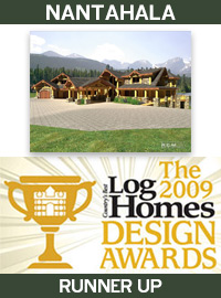2009 Countrys Best Log Homes Magazine - Runner Up - Nantahala