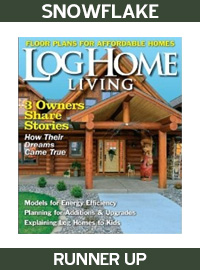 2009 Log Home Living Magazine - Runner Up - Snowflake