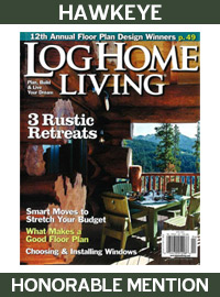 2010 Log Home Living Magazine - Honorable Mention - Hawkeye