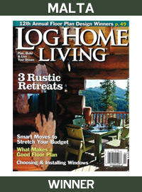 2010 Log Home Living Magazine - Winner - Malta