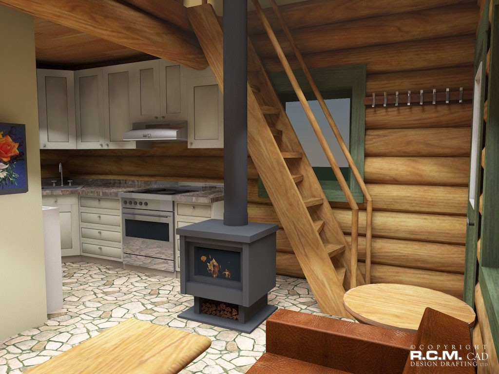 500 square feet and less r c m cad design drafting ltd for Log cabin kits 1000 square feet
