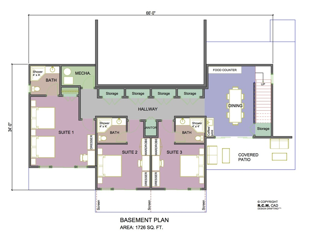 Clearwater bed and breakfast rcm cad design drafting ltd for Bed and breakfast design plans