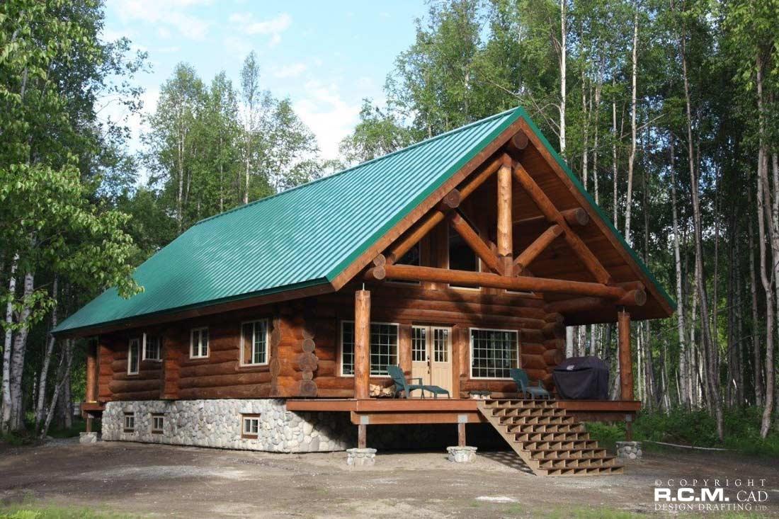 Finished projects rcm cad design drafting ltd for Alaska cabin plans