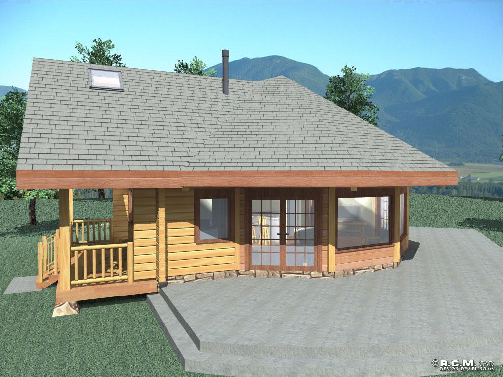 aspen meadow log home styles - rcm cad design drafting ltd.