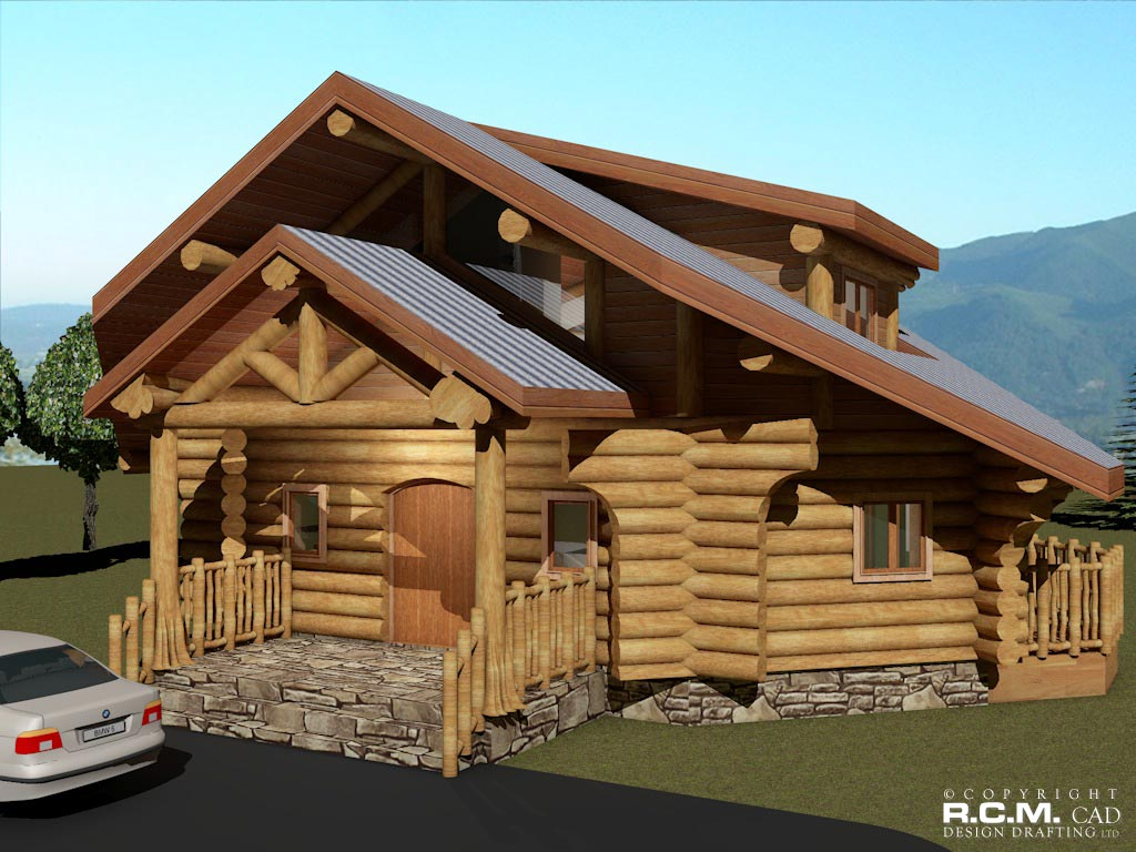 The Spring Log Home Styles - RCM Cad Design Drafting Ltd. on log security house, chalet house, log play house, log look house, log dream house, log pool house, country house, log structures being built, log homes, caldera springs house, log school house, log basement house, colonial house, norway log house,