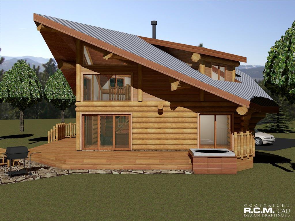 the spring log home styles - rcm cad design drafting ltd.