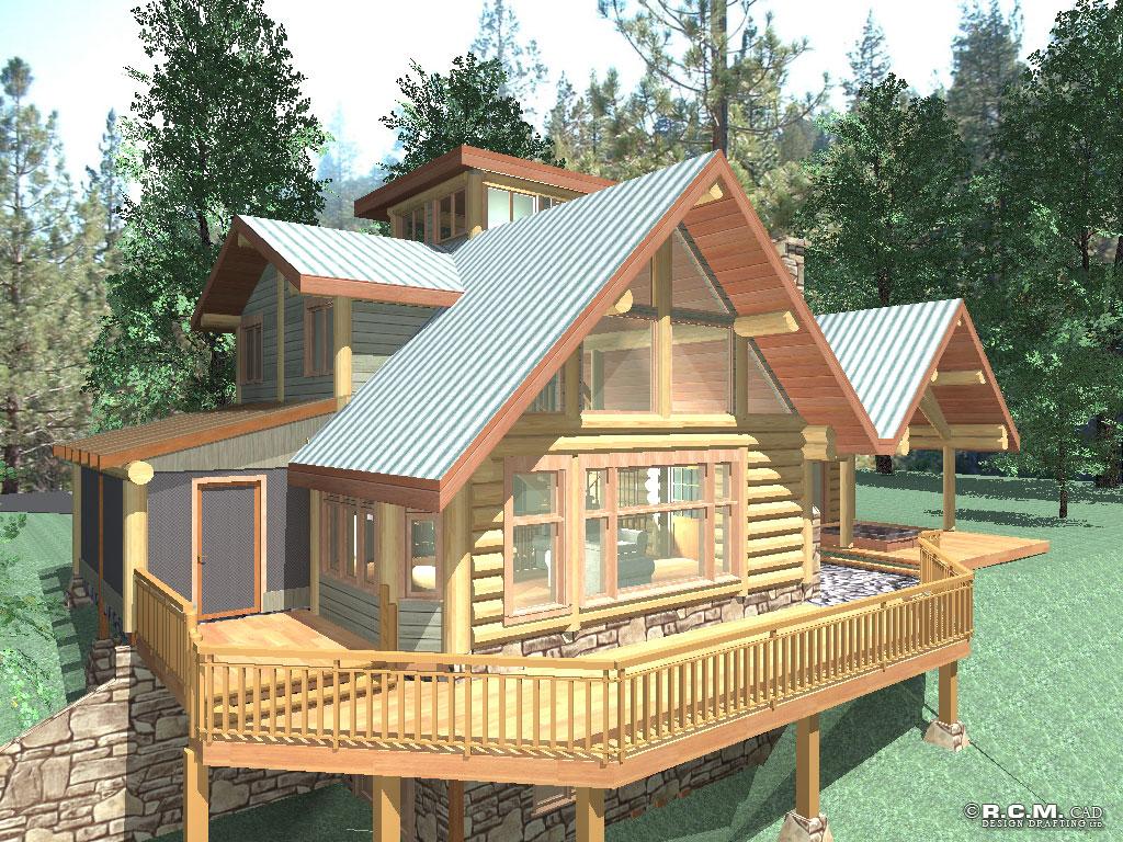 gilmore log home styles - rcm cad design drafting ltd.