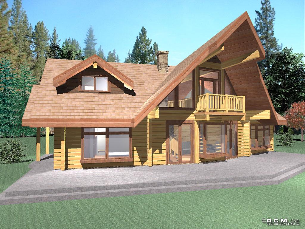 hawk log home styles - rcm cad design drafting ltd.