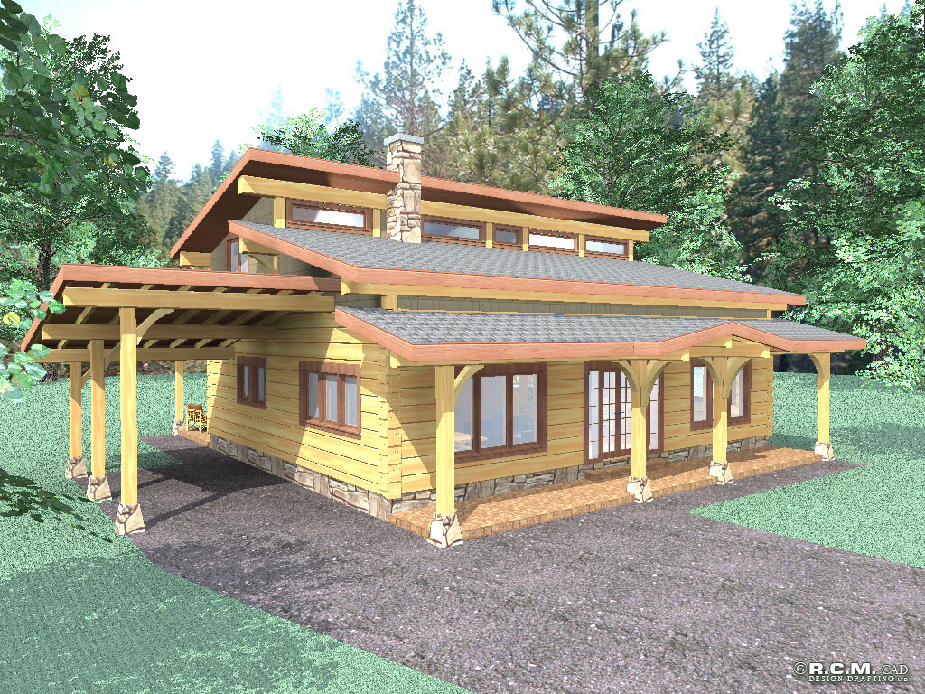 lookout ridge log home styles - rcm cad design drafting ltd.