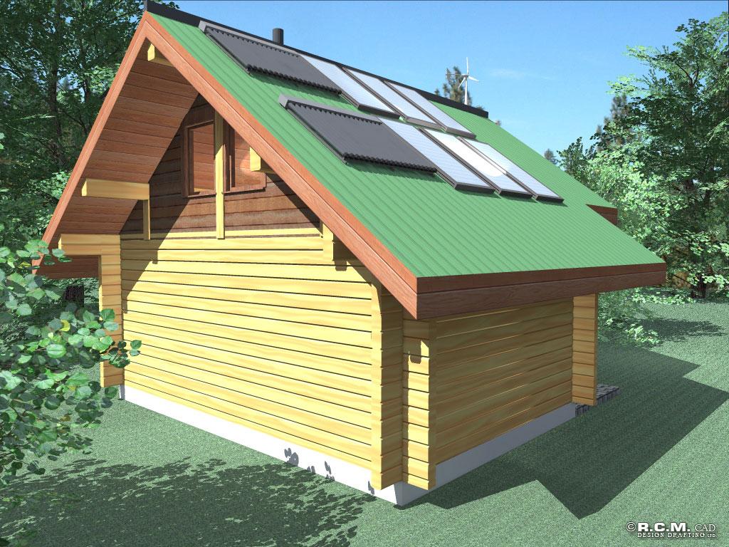 romeo log home styles - rcm cad design drafting ltd.