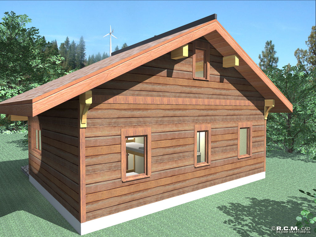 The bunk house log home styles rcm cad design drafting ltd for Bunk house plans