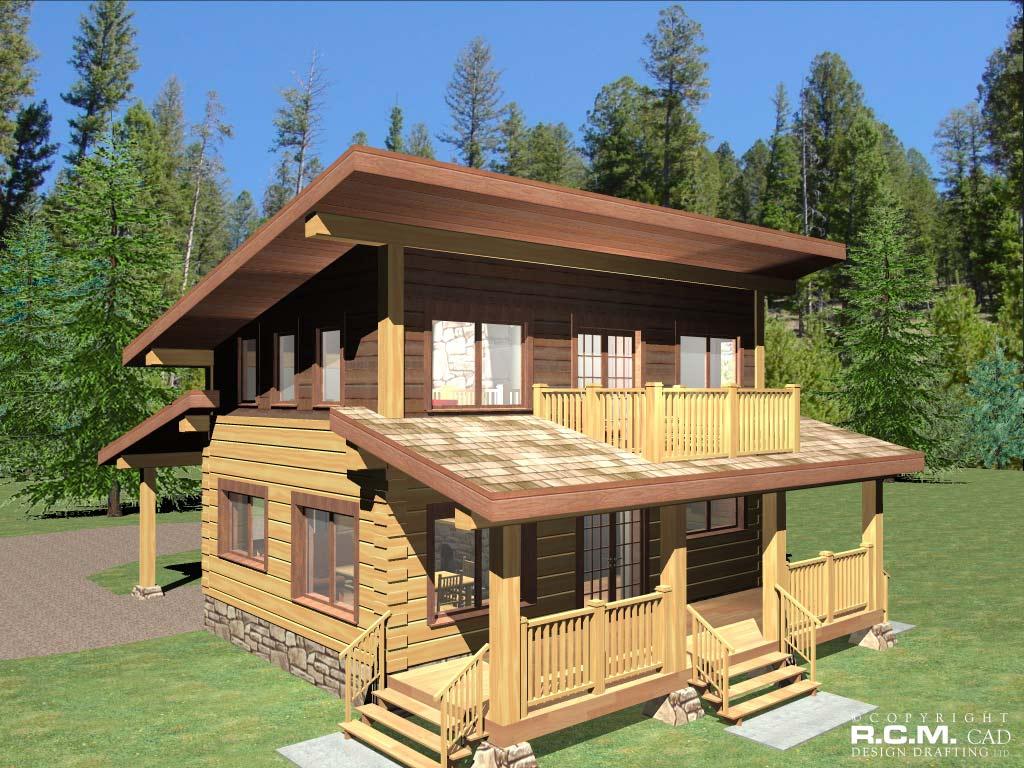 amarok log home styles - rcm cad design drafting ltd.