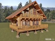 980 sq ft - Log Chalet Milled