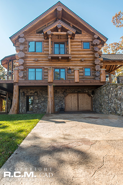 RCM Cad - Tennessee 2 - Log Home Finished Project