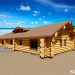 RCM Cad - Bonaire Island - Venezuela - Western Red Cedar Log Home