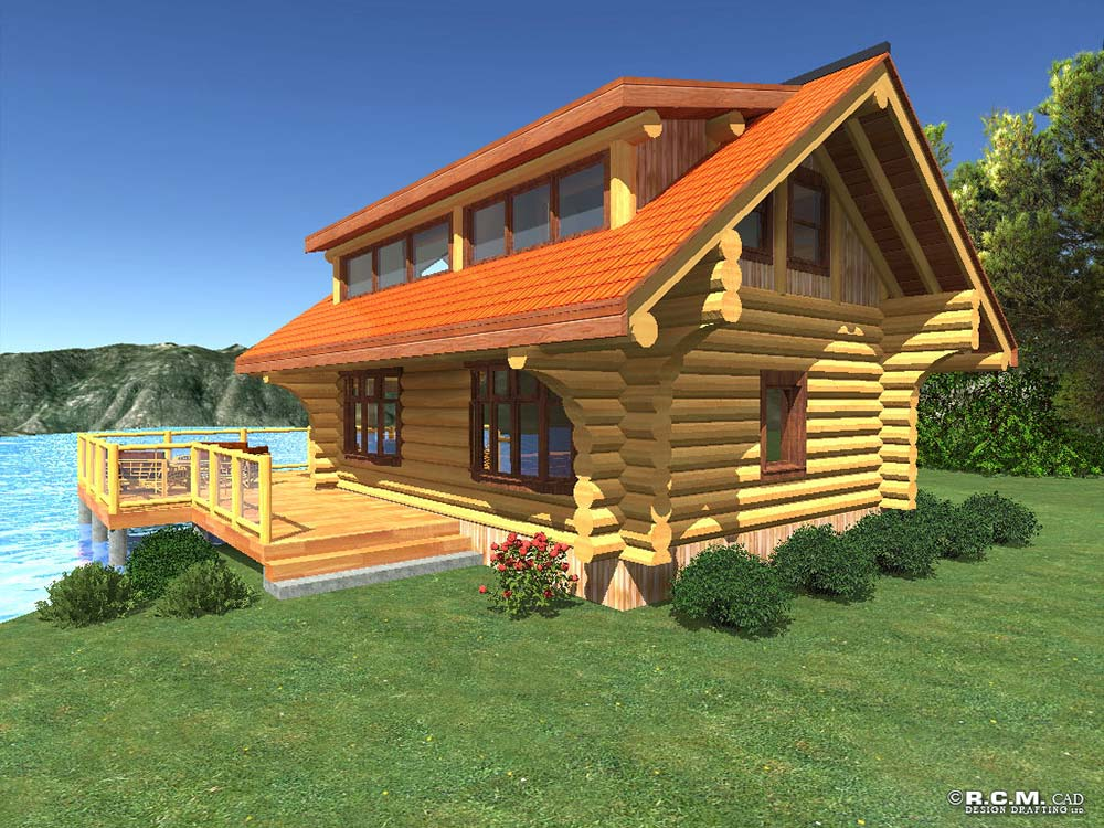500 to 1000 square feet r c m cad design drafting ltd for Vacation log homes