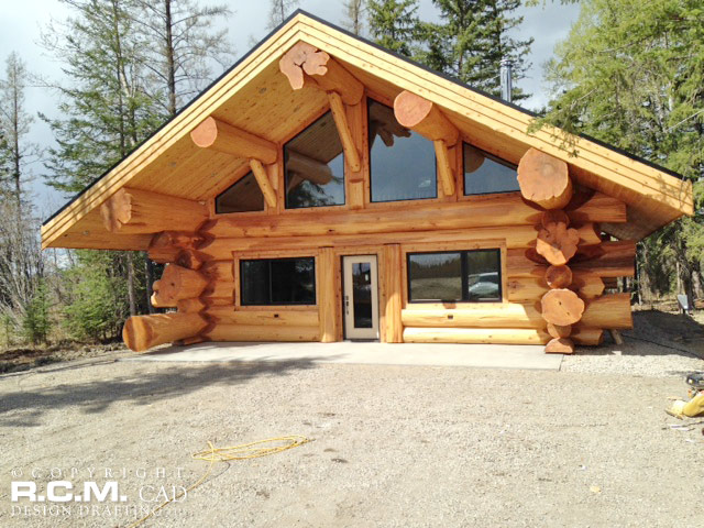 Rocky mountain log cabin home plans for Mountain log home plans