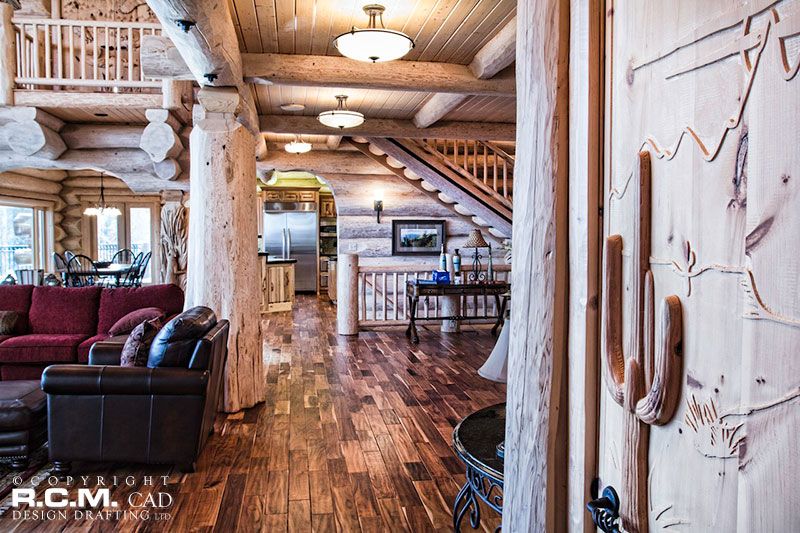 RCM Cad - Tennessee 1 - Log Home Finished Project