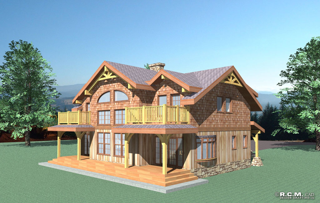 2226 Sq. Ft - Yukon Log Home - RCM Cad Design Drafting Ltd.