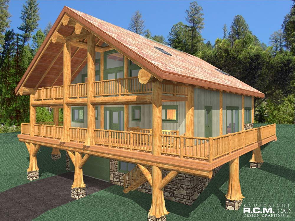 Log home cad design home photo style for Log home design software