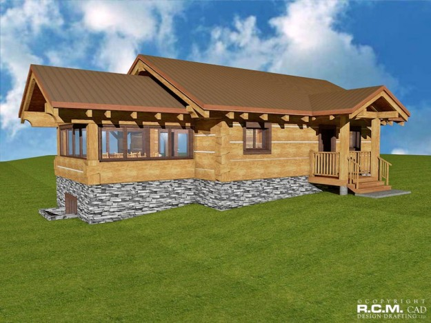 Rcm log home plans
