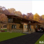 1228 sq ft – Contemporary Post and Beam