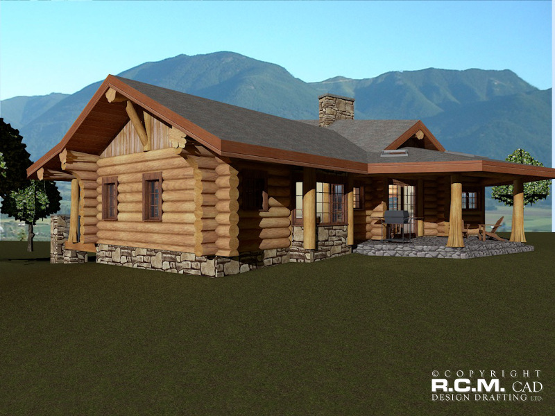 Malta Log Home Styles - RCM Cad Design Drafting Ltd. on log security house, chalet house, log play house, log look house, log dream house, log pool house, country house, log structures being built, log homes, caldera springs house, log school house, log basement house, colonial house, norway log house,