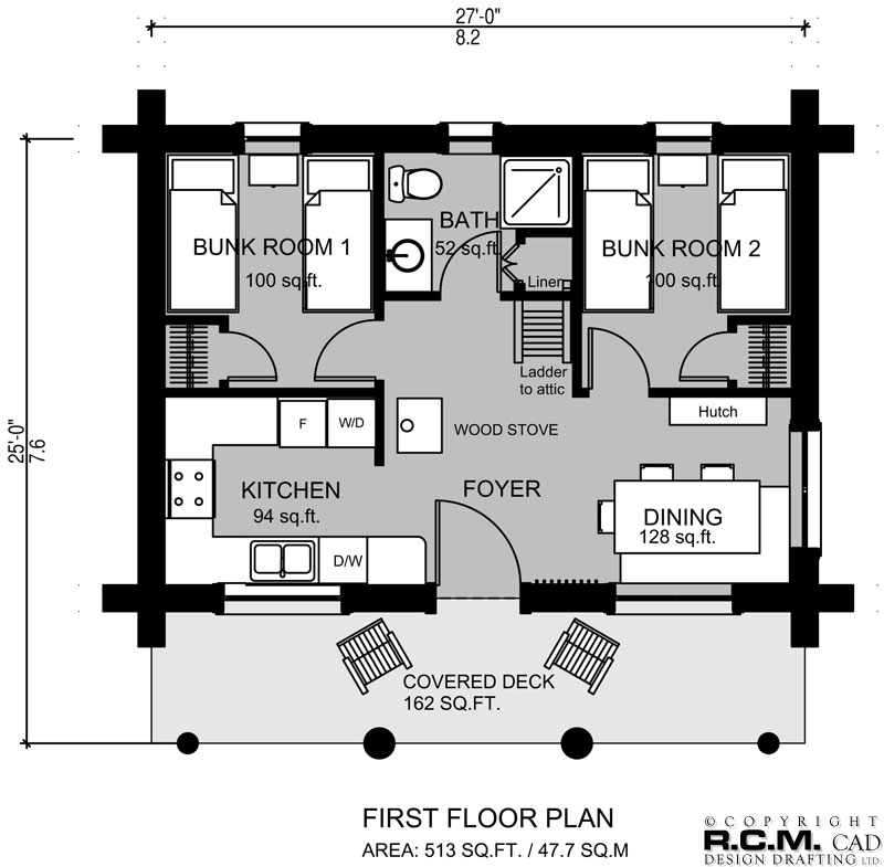The Bunk House Log Home Styles - RCM Cad Design Drafting Ltd. Bunk House Plans on boarding house plans, bank house plans, bunkhouse house plans, main house plans, small house plans, love house plans, pool house plans, beach shack plans, cowboy bunkhouse plans, head house plans, burke house plans, guest house plans, bear house plans, hotel plans, loft house plans, canopy house plans, united states house plans, house house plans, burgess house plans,